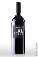 2015er Black Print, Rotwein Cuvée QbA trocken, Markus Schneider,